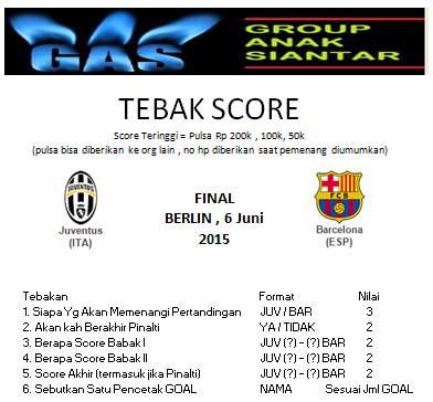 Gila Bola ala GAS dalam Ajang Tebak Skor Final Liga Champion Berlin 2015