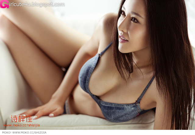 Shi-Zi-Jia-Denim-Lingerie-02-very cute asian girl-girlcute4u.blogspot.com