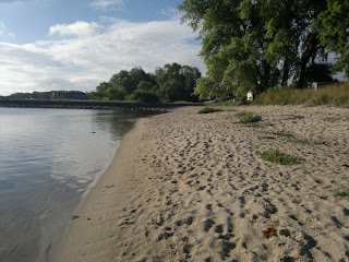 The beach, an early morning in July 2012