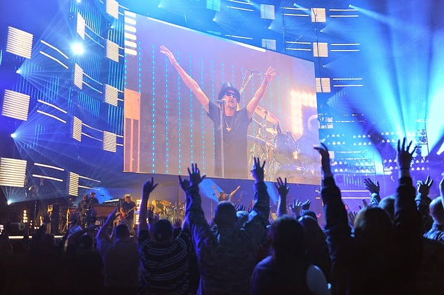 Banda em palco