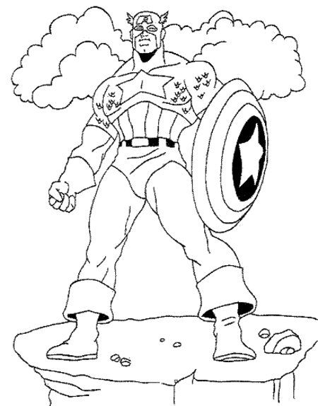 Avengers Coloring Pages Captain America : Captain america avengers coloring pages for kids