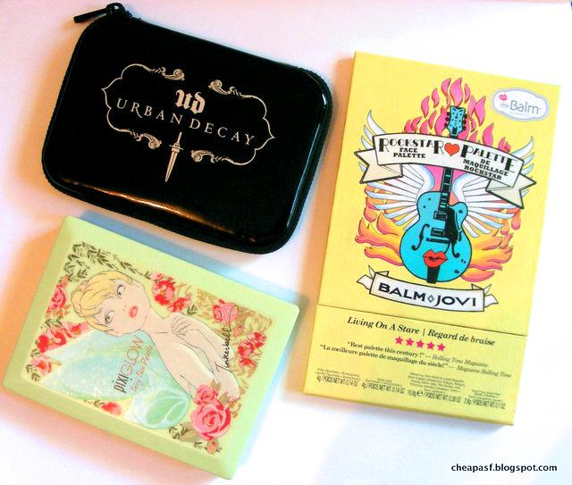 Urban Decay Dangerous Palette, TheBalm Balm Jovi Rockstar Face Palette, Pixi Glow Fairy Face Palette
