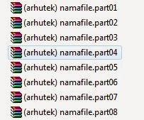 Cara Membagi File Menjadi Beberapa Part Dengan WinRAR