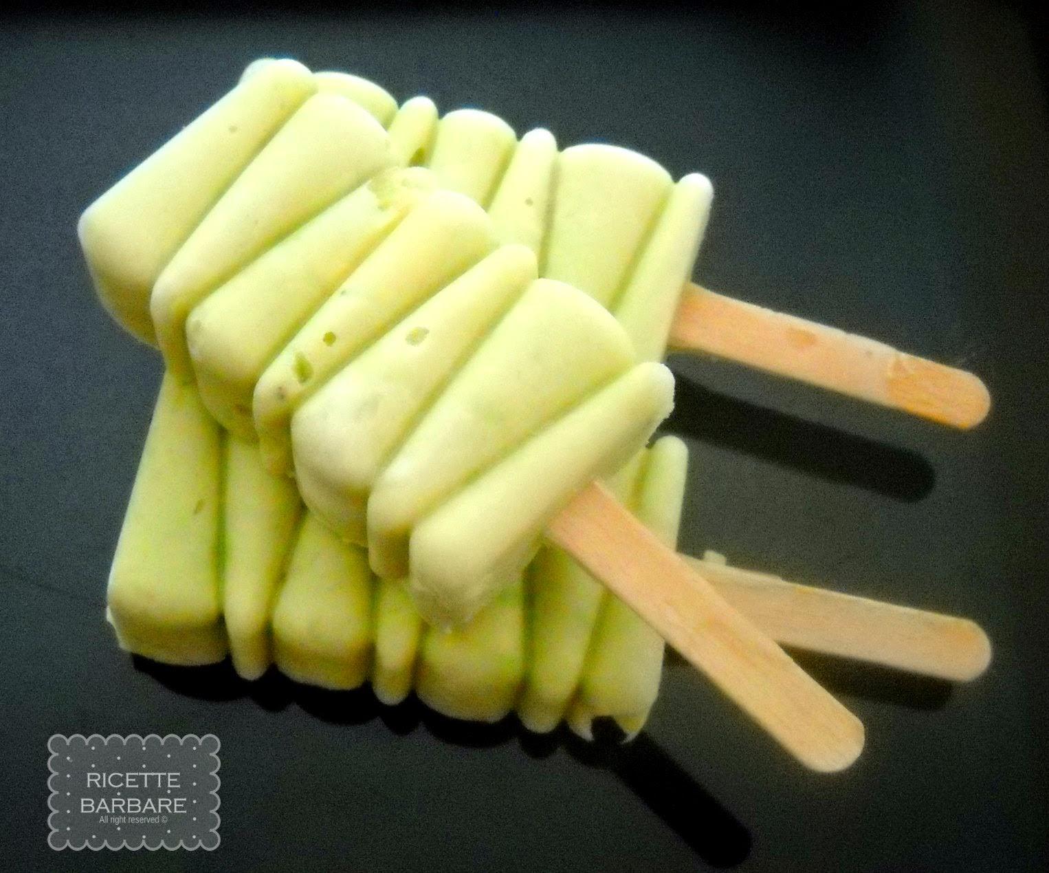 Ricette Barbare: Avocado yogurt pops