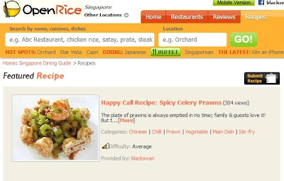 singapore openrice features happy call celery prawns recipe