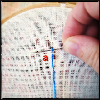 Broderisting tutorial. Heavy chain stitch. trin 2