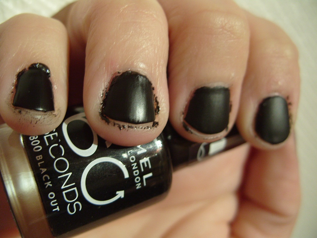 Old Fashioned Kleancolor Matte Finish Nail Polish Matte Black ...