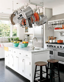 modern kitchen hanging rack (hanging vessels)