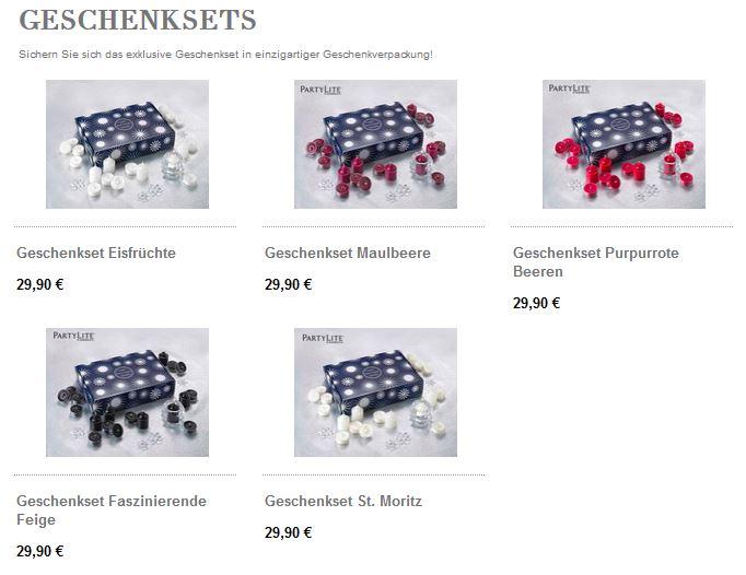 partylite online shop geschenksets ideal. Black Bedroom Furniture Sets. Home Design Ideas