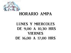HORARIO DE ATENCIÓN DEL AMPA