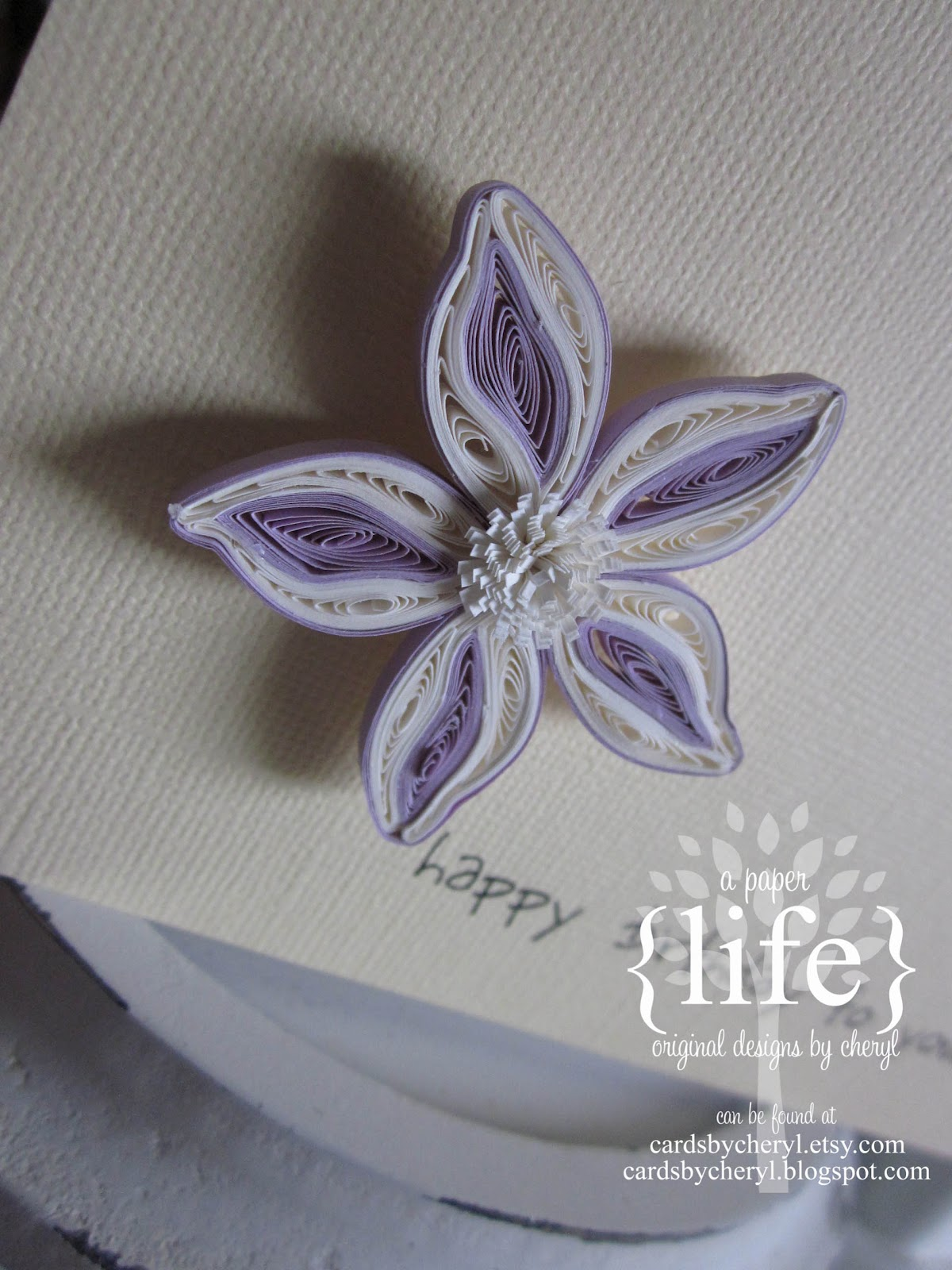 A Paper Life Happy Birthday To You Quilled Flower