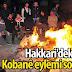 Hakkari'deki Kobanê eylemi sona erdi
