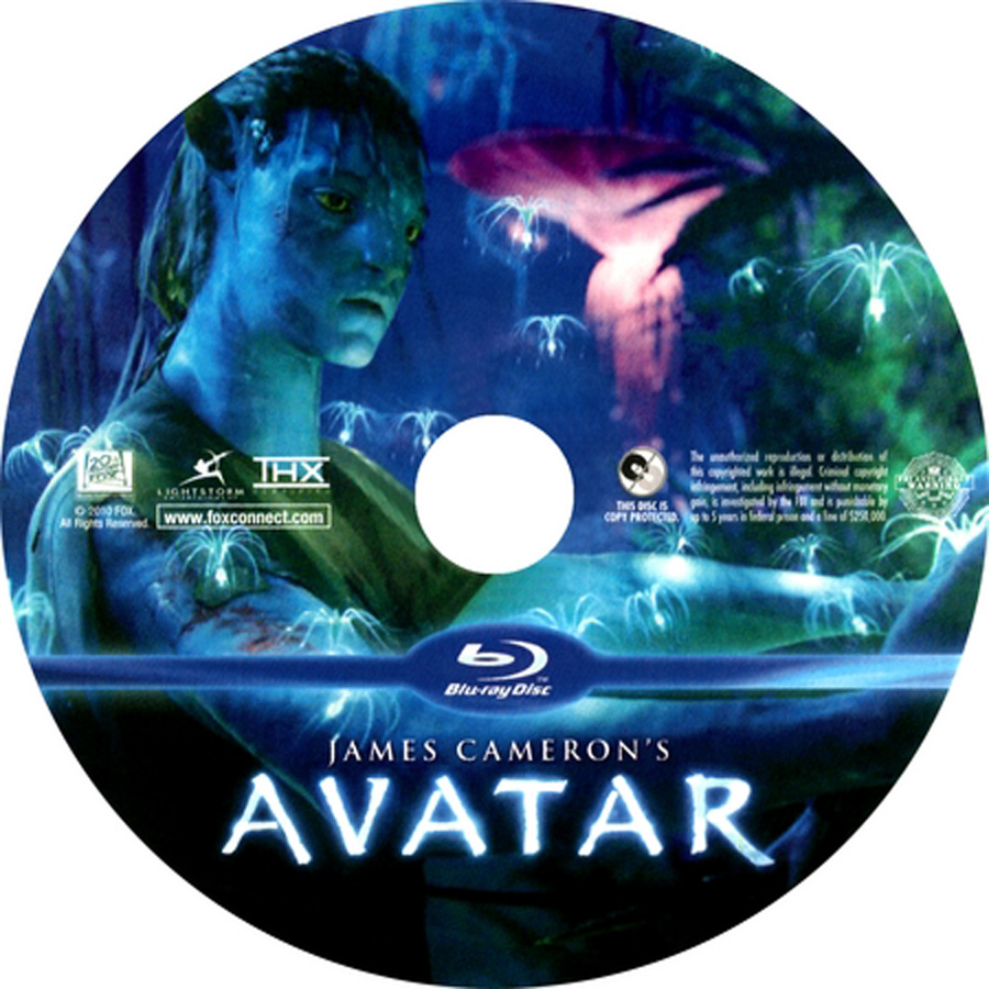 Avatar Movie Dvd Label