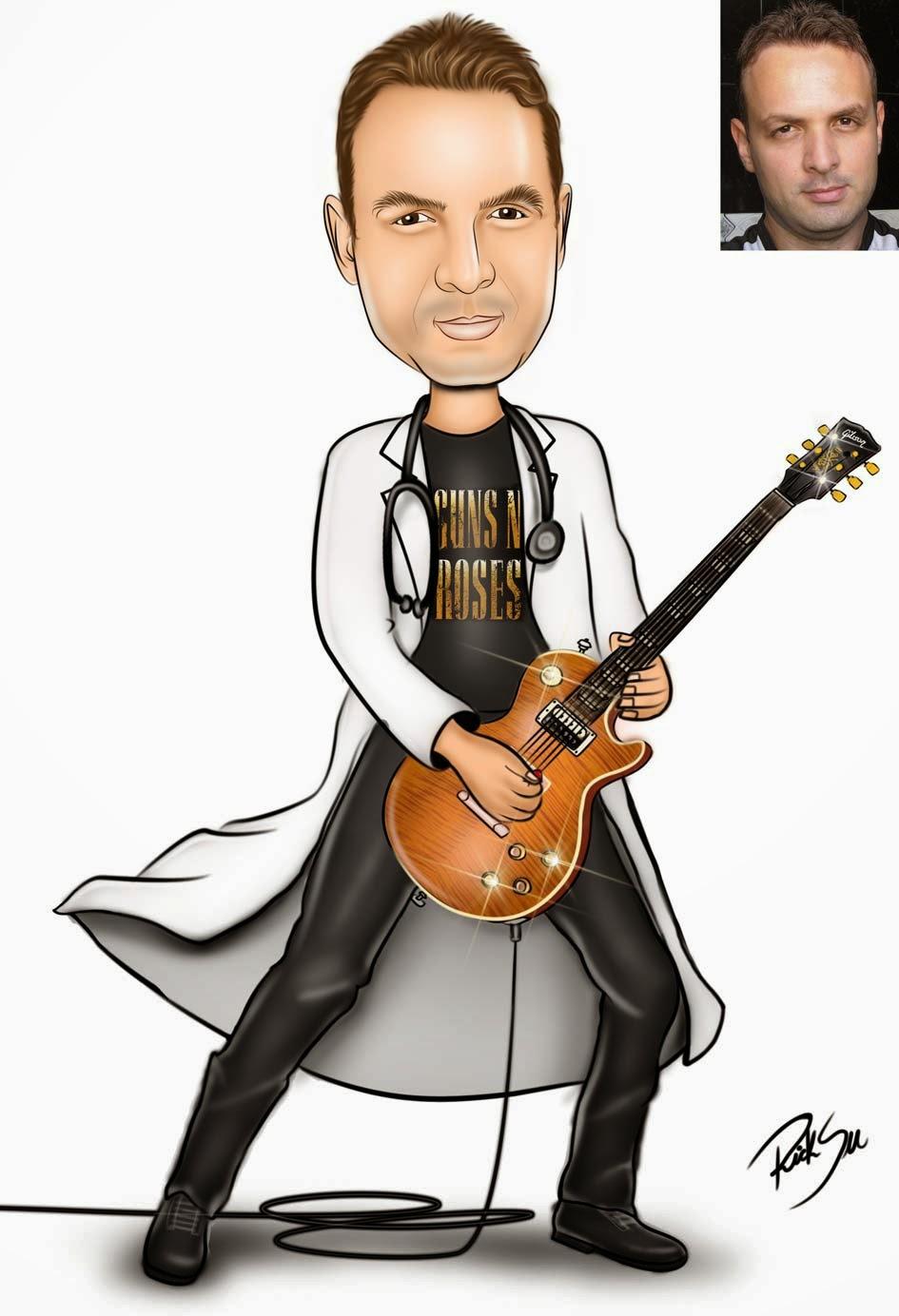 Medicina desenho de guitarrista guns´n roses