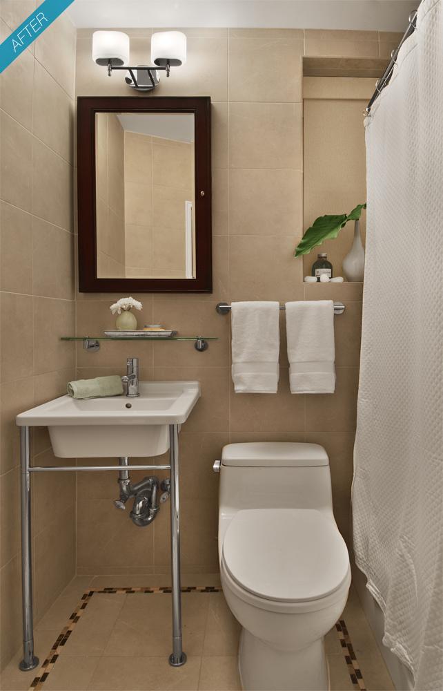 Romã Decoração de pequenos banheiros -> Banheiro Muito Pequeno