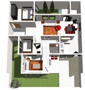 contoh desain denah rumah minimalis 2 lantai sederhana