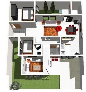 Denah Rumah Minimalis Sederhana 1 Lantai