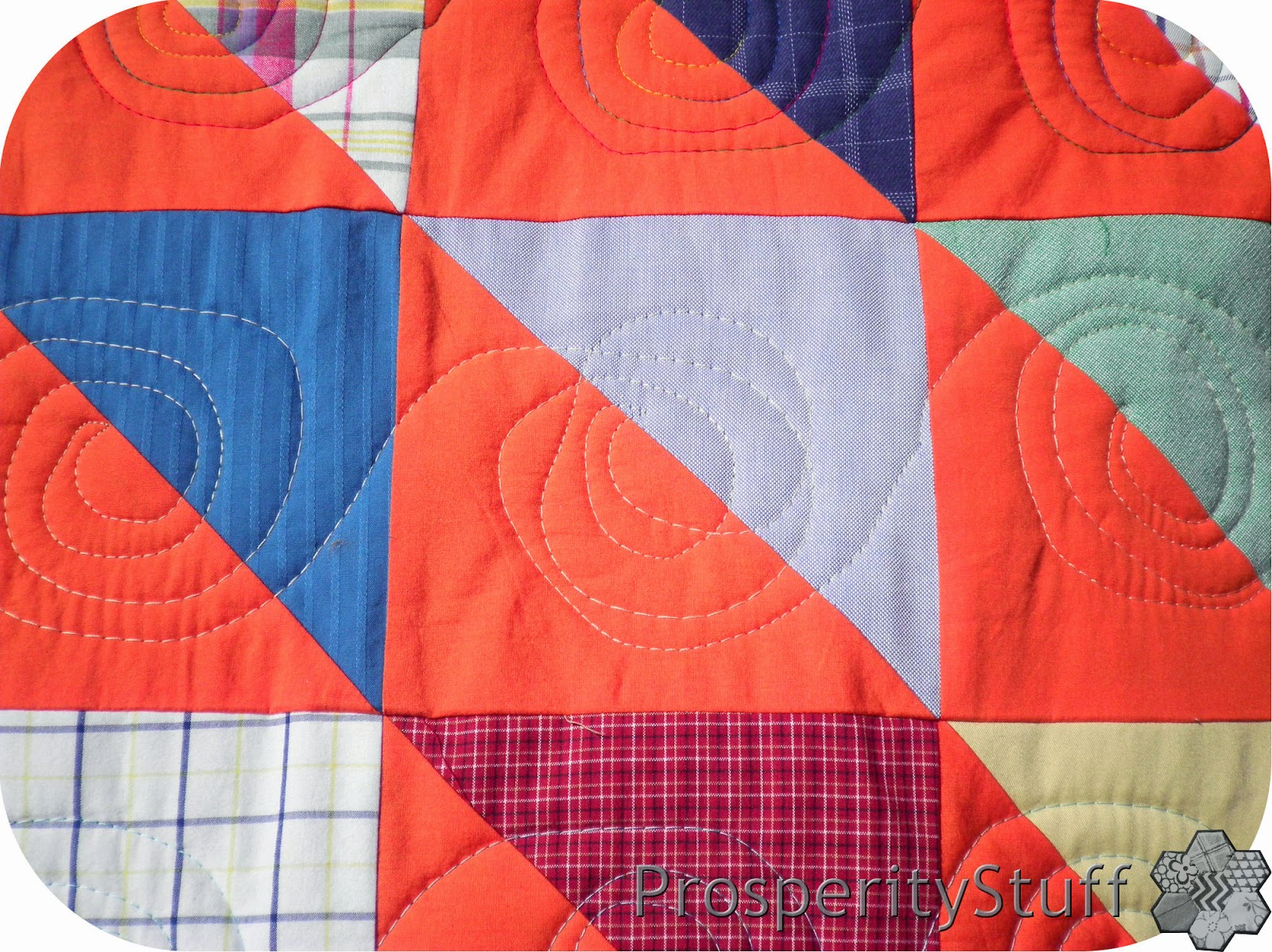 ProsperityStuff Free-Motion (sort of) Spiral Quilting