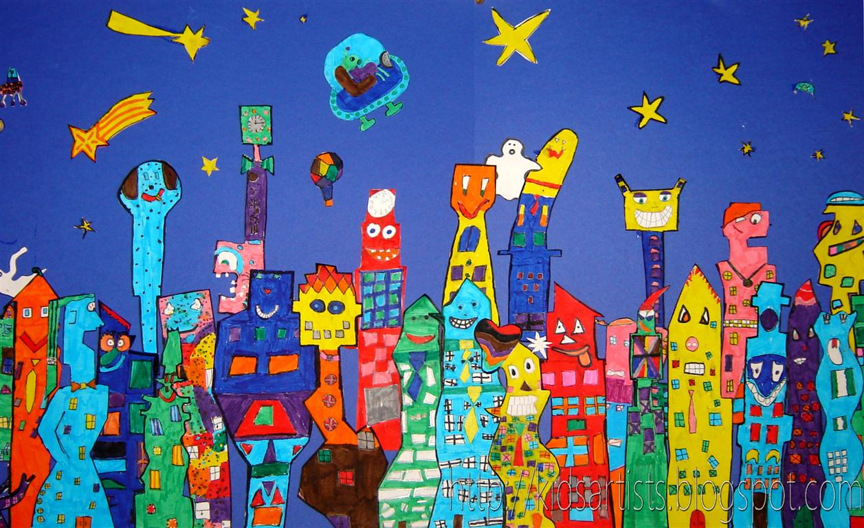 Kids artists just like james rizzi for Projects of houses