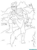 Mewarnai Gambar Sakka Siap Bertarung Melawan Tentara Kerajaan Api