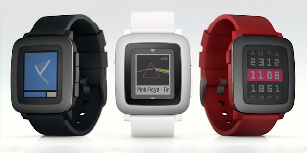 Pebble Time smartwatch with Timeline UI