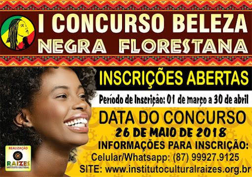 1º CONCURSO BELEZA NEGRA FLORESTANA
