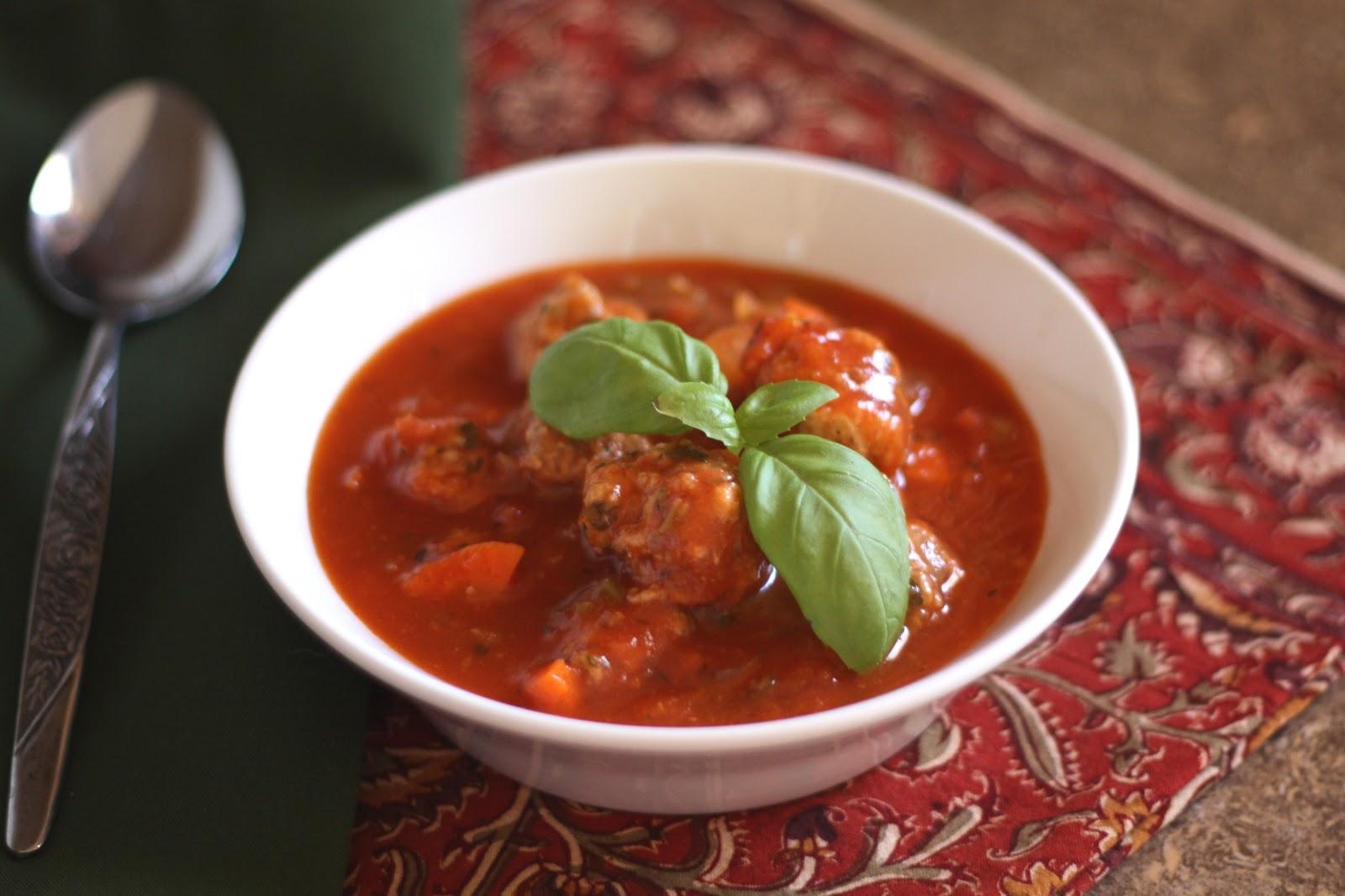 Barefeet In The Kitchen: Italian Meatball Soup
