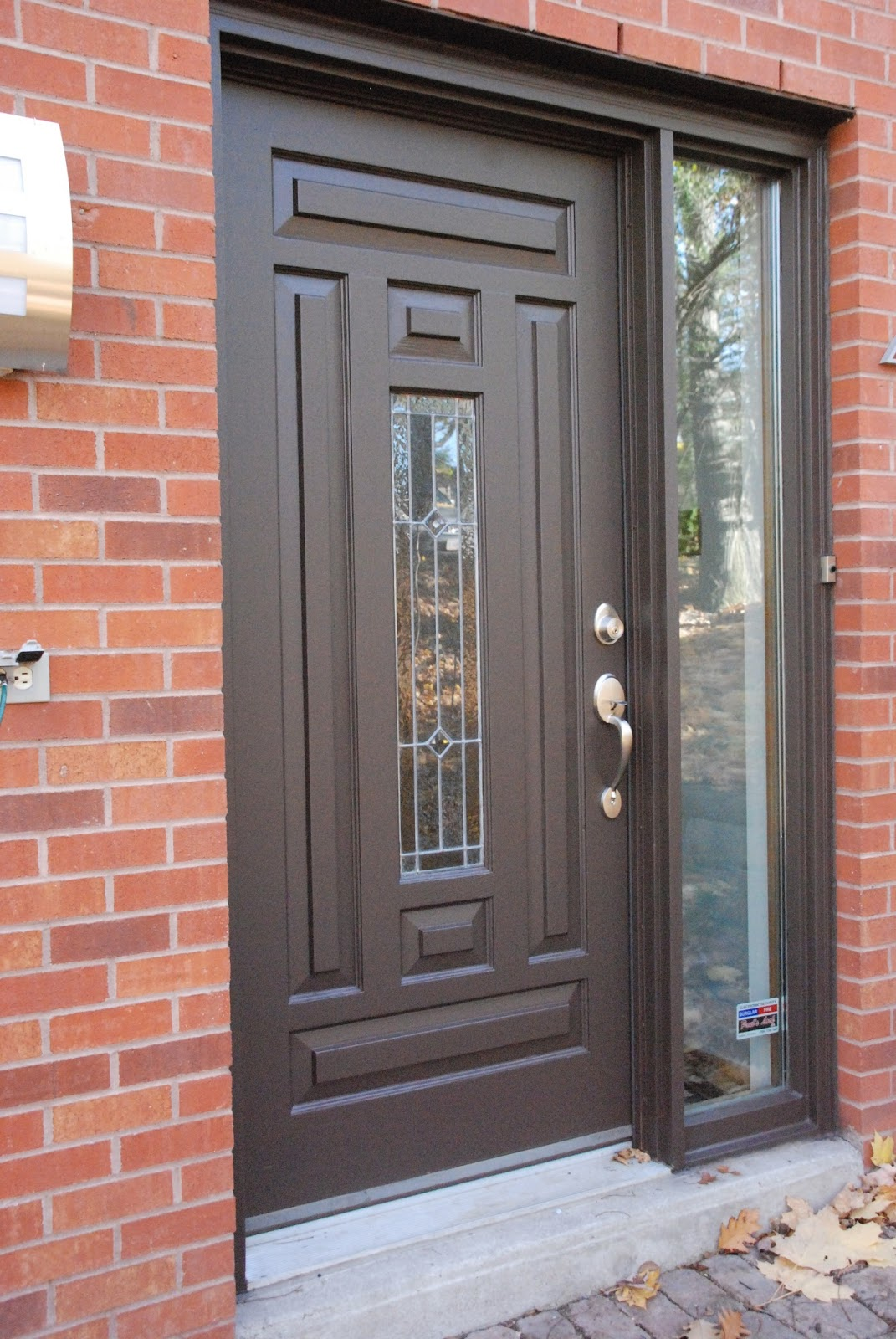 After some discussion we decided it would be good to paint the front door with an HVLP sprayer rather than our nice Purdy paint brushes. & Downtown Barrie Modern Home - Colour me Commercial Brown | Fun Spray ...