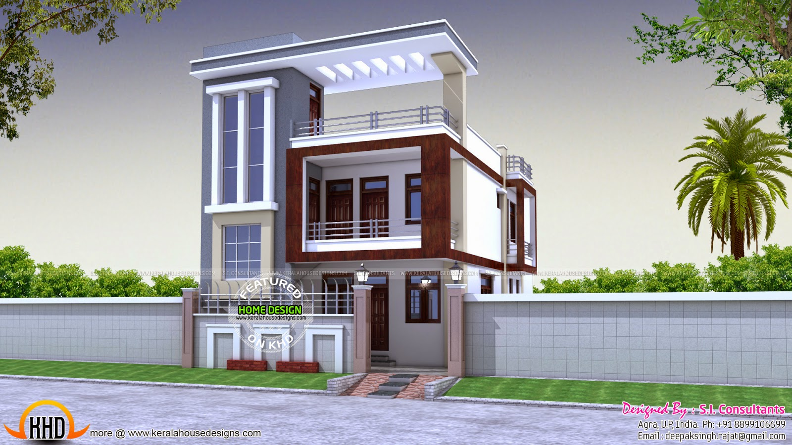30 Feet Front Elevation : Home plan kerala design and floor plans