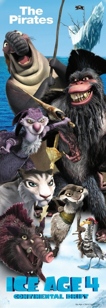 pirates in ice age 4 poster