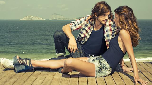 Ashton Kutcher y Alessandra Ambrosio