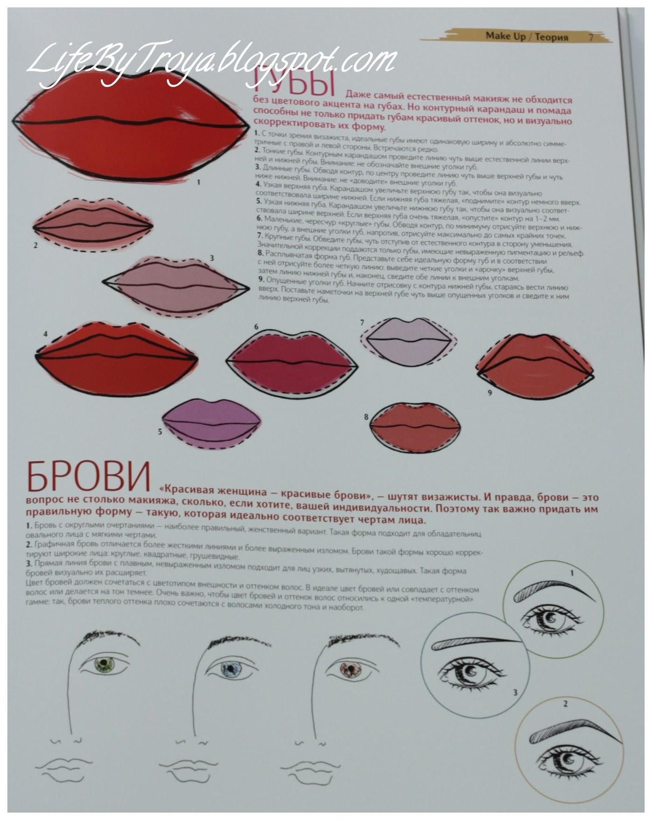 Теория по макияжу для начинающих
