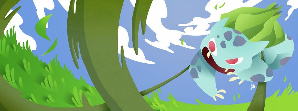 jonathan jon lankry 2D artist animation comic book animated bulbasaur pokemon pokedex kanto vine whip fanart