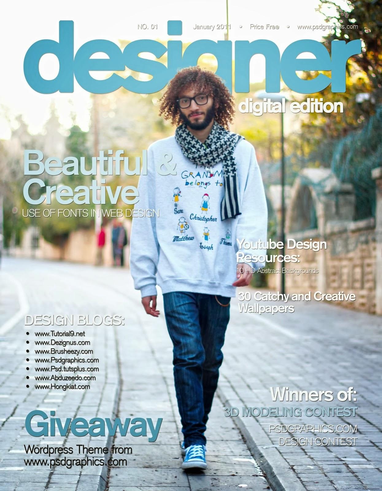 blue magazine cover photoshop