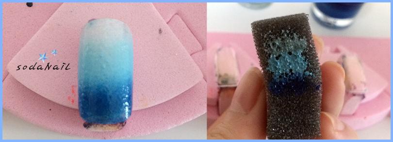 Nail Art Designs Using Sponge Hession Hairdressing