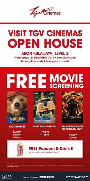 Bestlah tgv cinemas free movie screening 24 dec for Cocktail tgv