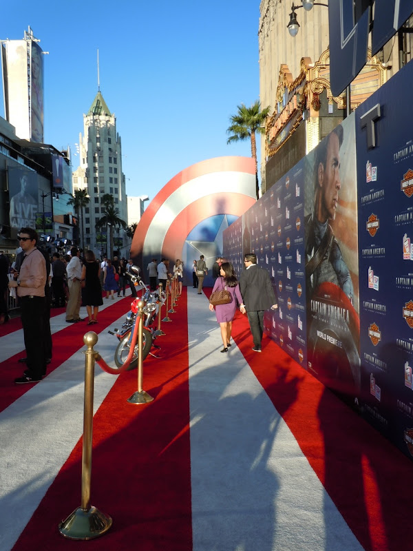 Captain America premiere red carpet