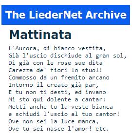la wiki dei Lieder