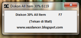 Cheat Hack Diskon 30% All Item AyoDance V6119 New Work