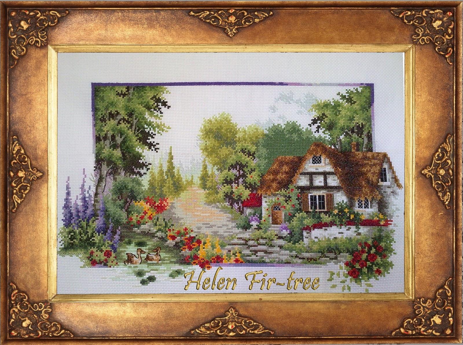 Hwlwn Fir-tree вышивка крестом  времена года Лето counted cross stitch seasons summer