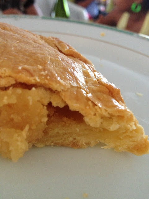 pte feuillete, galette, crme d'amandes