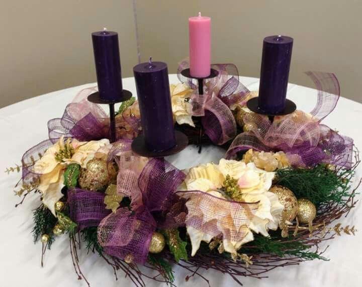 Corona de adviento decoraci n navidad ideas para navidad - Como decorar la corona de adviento ...