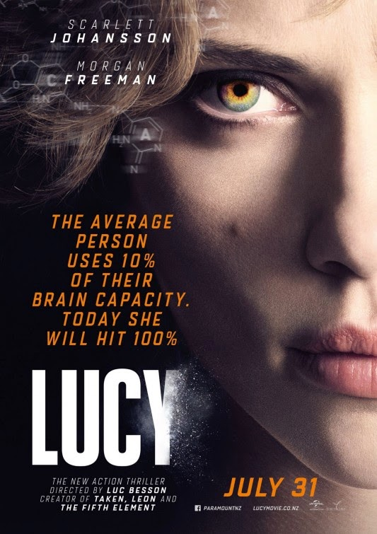 Lucy, Film Poster, Directed by Luc Besson, starring Scarlet Johansson