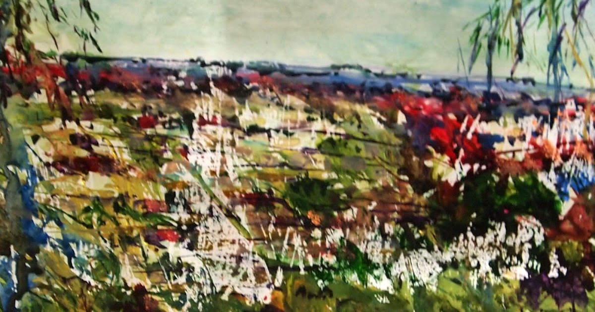 View From Wombat Hill Daylesford On Yupo Paper Artist