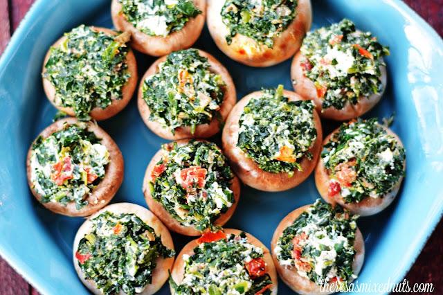Sundried Tomato Stuffed Mushrooms