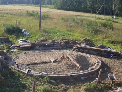 Фундамент. Каркасный энергопассивный дом из соломы в Минске