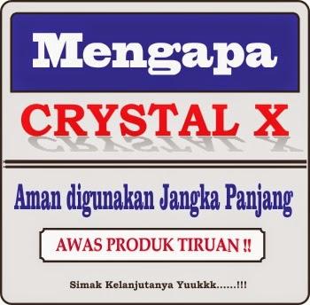 Penjelasan tentang alasan keamanan crystal x