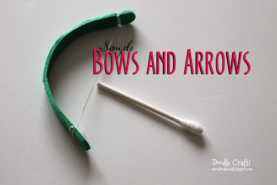 Popsicle Stick Crafts Bow and Arrow