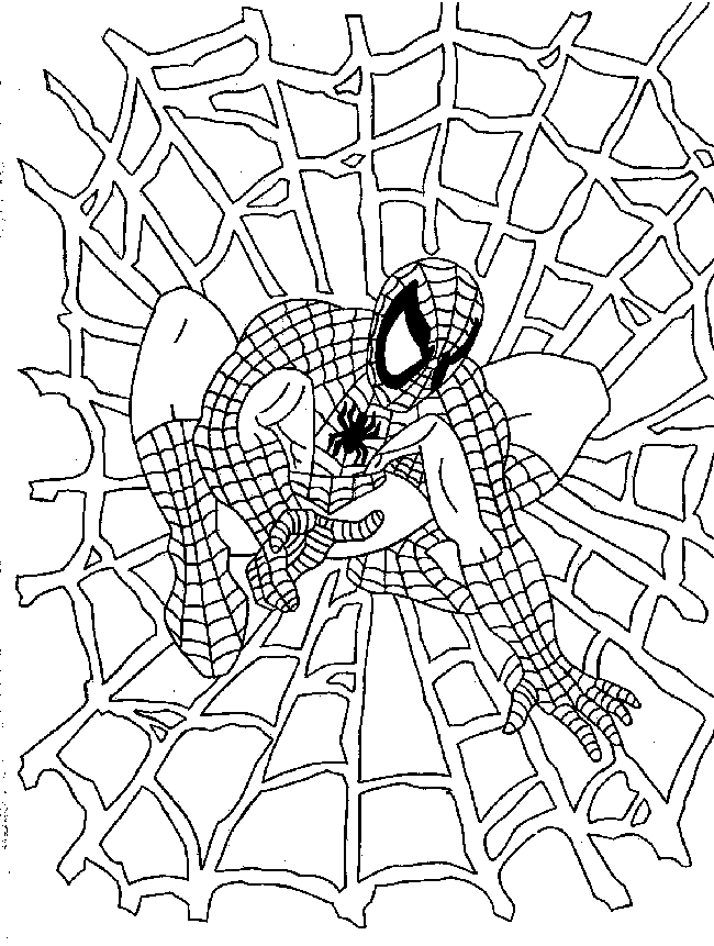 mini coloring pages spiderman - photo#46