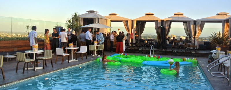 Letopho sixty beverly hills rooftop pool party movie - Beverly hills public swimming pool ...